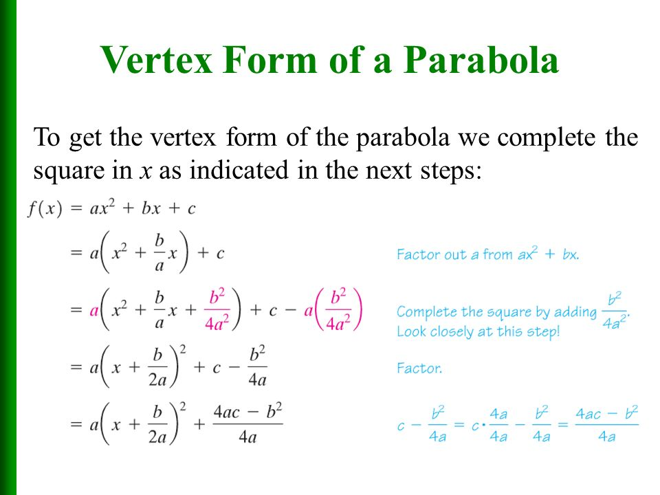 Quadratic Functions And Their Properties Ppt Download