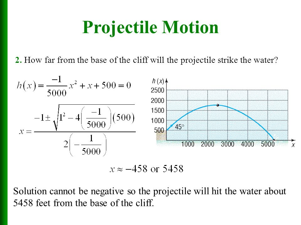 "projectile motion Projectile motion we see one dimensional motion in previous topics now, we will try to explain motion in two dimensions that is exactly called ""projectile motion"" in this type of motion gravity is the only factor acting on our objects we can have different types of projectile type for example, you throw the ball straight upward, or you kick."