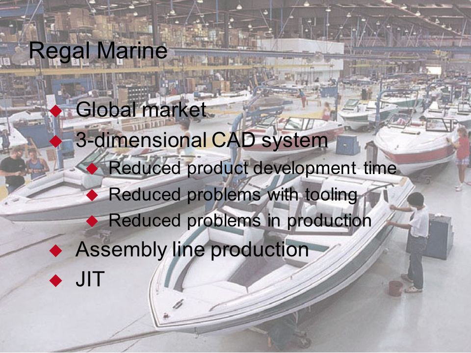 strategy at regal marine Regal marine has been competitive in florida with their strategy in differentiating  their product this is effective because they do this by delivering constant.