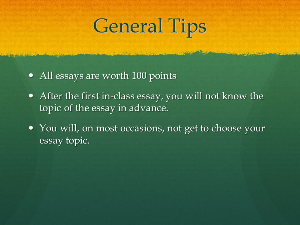 in class essay tips