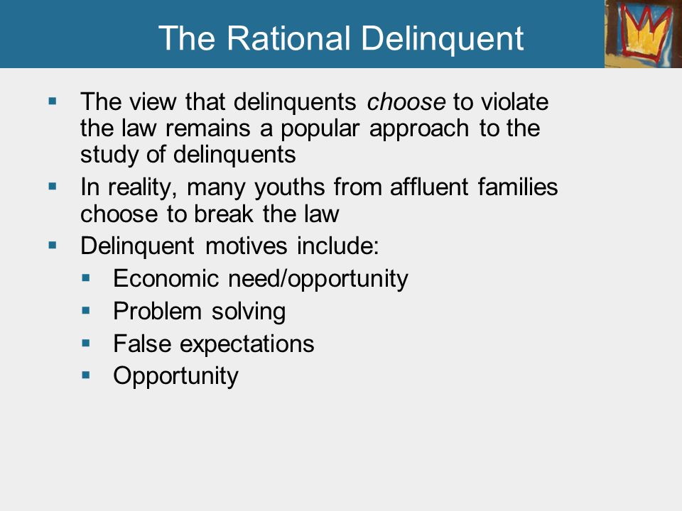 how does a family makeup affect delinquency Start studying juvenile delinquency - exam 1 study guide  in the delinquency process shows how family life and media can influence crime and violence .