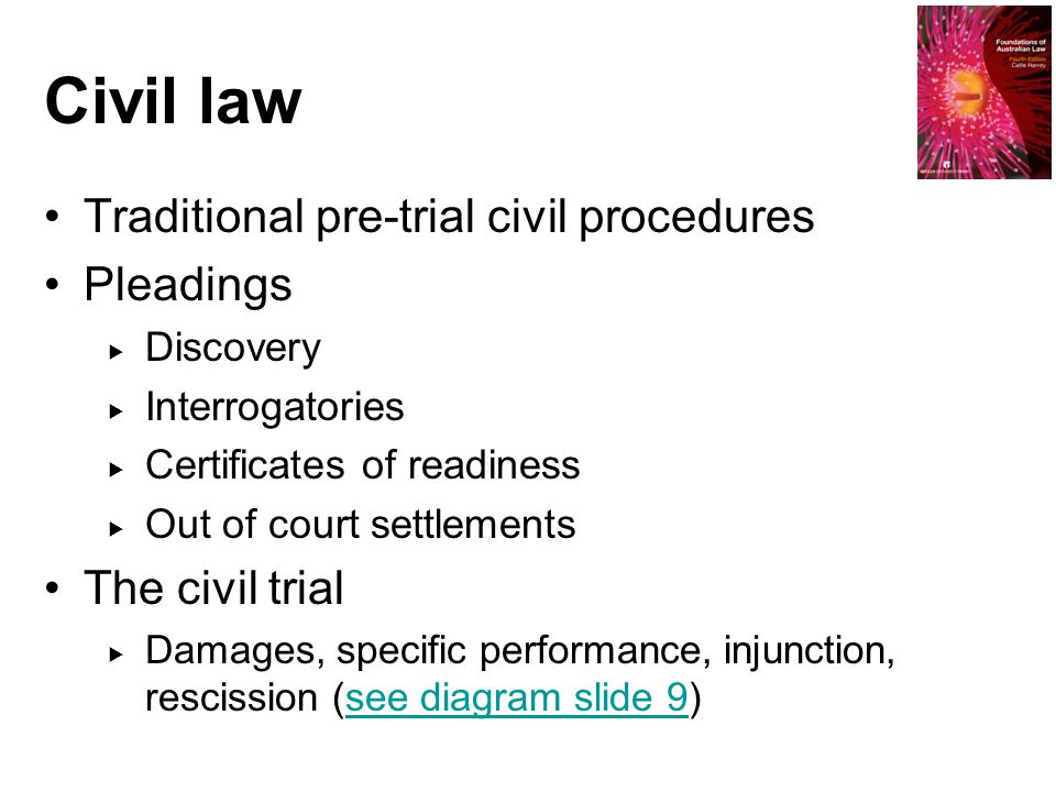 pretrial and trial Outlines what happens at a pre-trial conference for a criminal case.