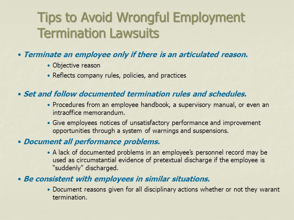 contemporary employment relation termination Mainstreaming employment contract law: employment termination doctrine and a paradox in contract law contemporary employment law has developed under the.