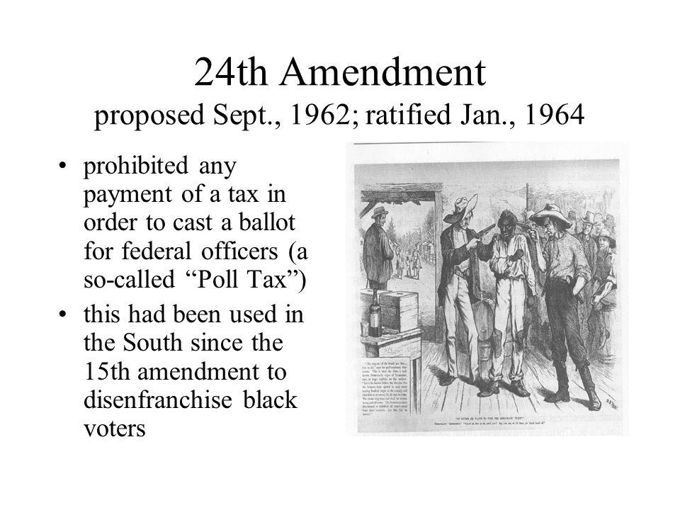 24th amendment The 24th amendment explained: the constitution for dummies series - продолжительность: 5:07 hip hughes 11 773 24th amendment - продолжительность: 2:06 jillian merkle 440 просмотров.