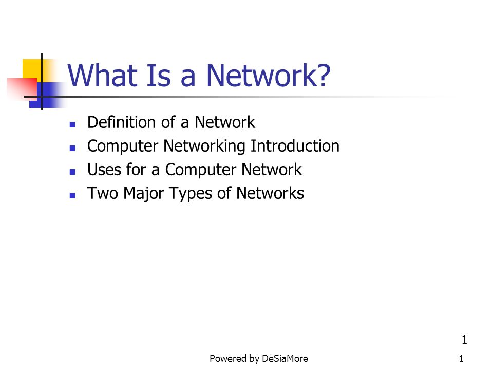 What Is a Network? Definition of a Network - ppt video online download