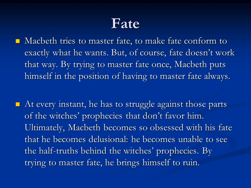 Fate and Free Will Act 3