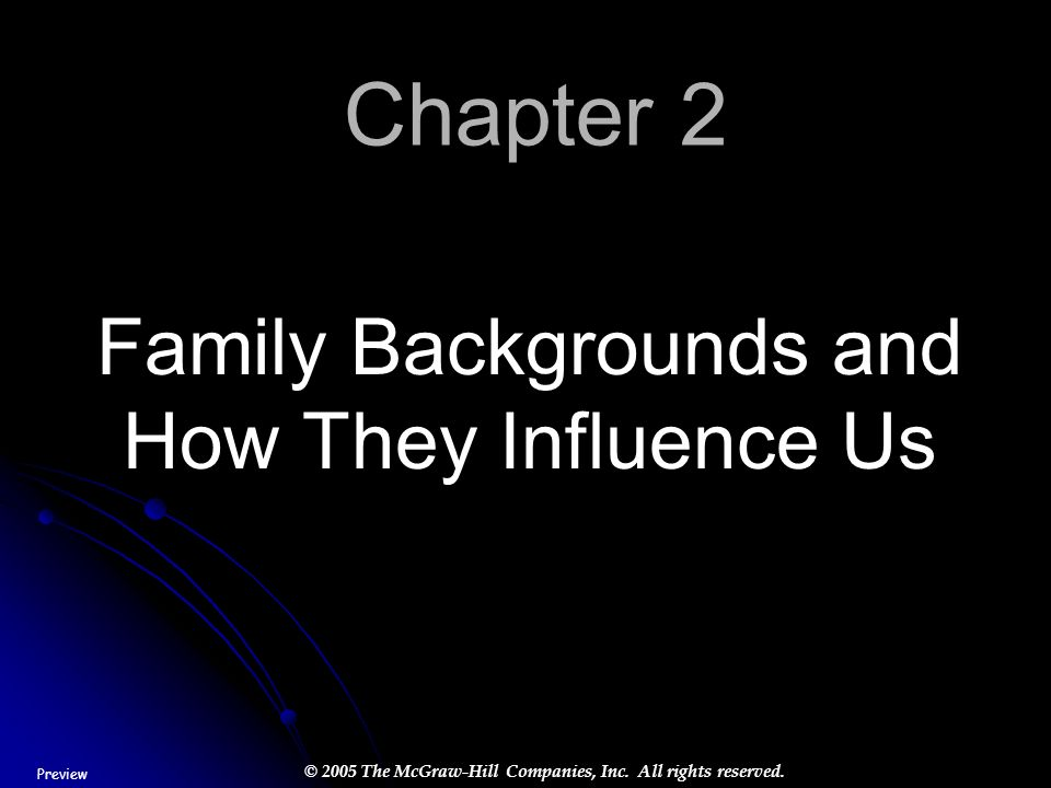 Family Backgrounds and How They Influence Us