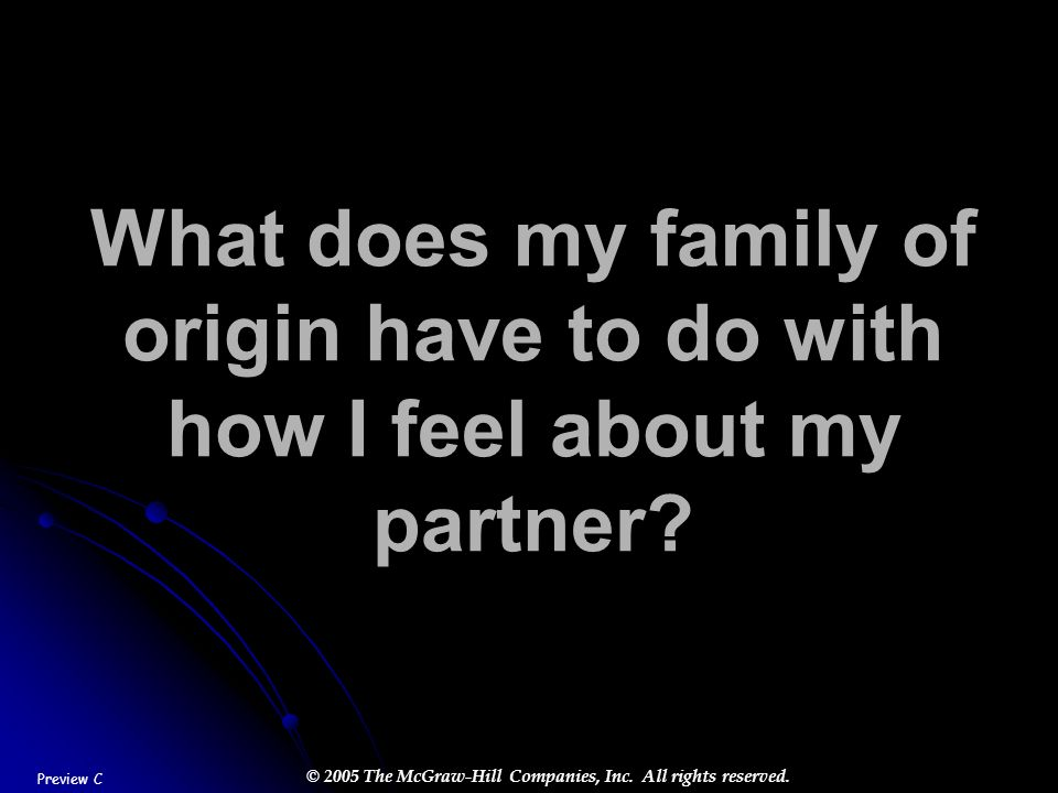 What does my family of origin have to do with how I feel about my partner