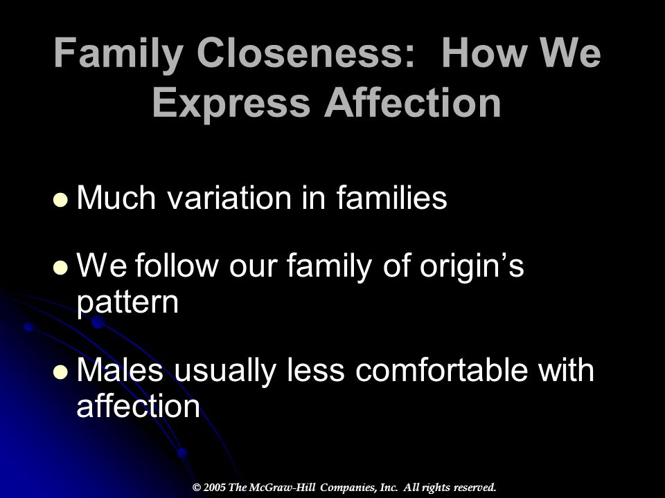 Family Closeness: How We Express Affection