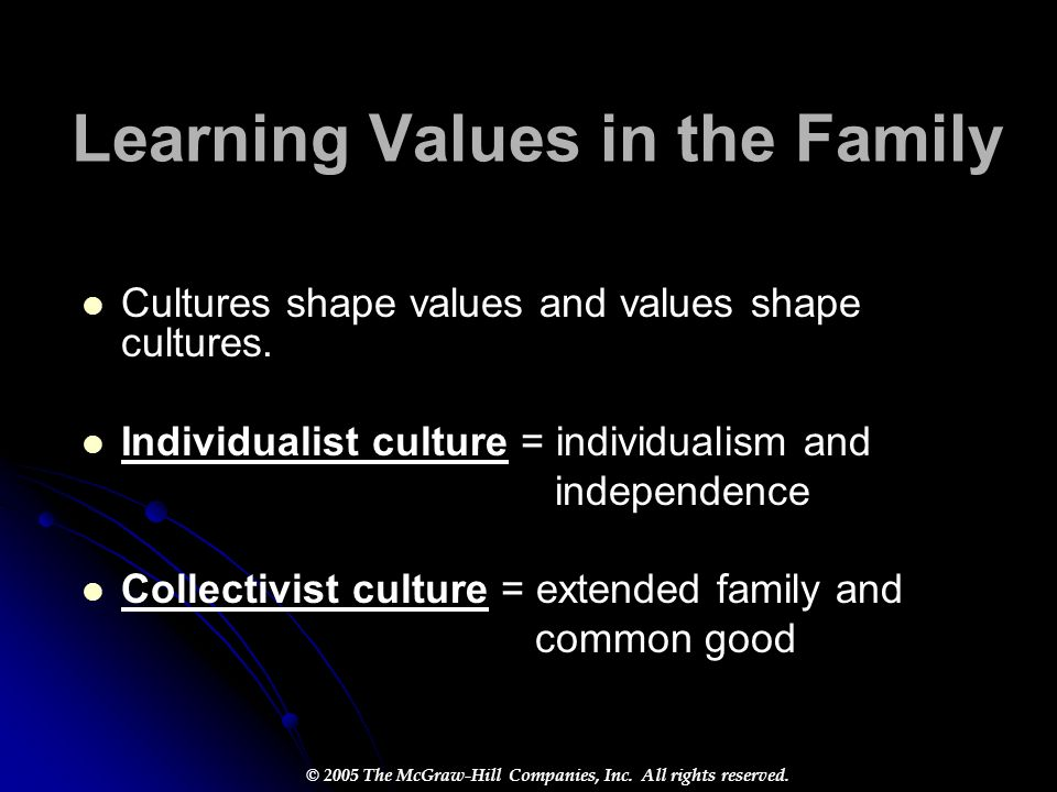 Learning Values in the Family