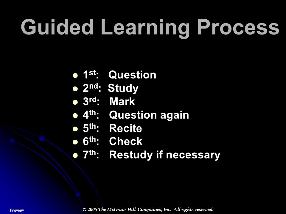 Guided Learning Process
