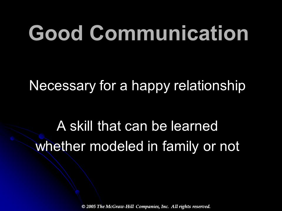 Good Communication Necessary for a happy relationship