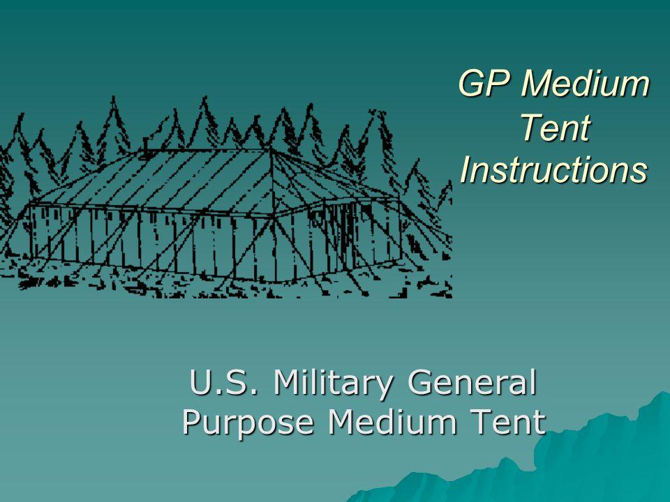 Gp Medium Tent Instructions Ppt Video Online Download