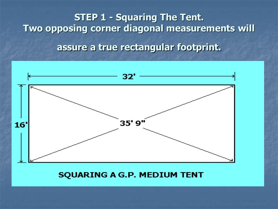 STEP 1 - Squaring The Tent  sc 1 st  SlidePlayer & GP Medium Tent Instructions - ppt video online download