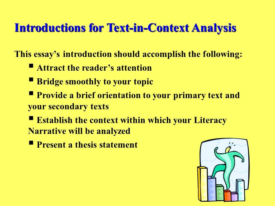 introduction analysis essay How to write an introduction for an essay while the essay is the most common type of paper assigned to students, this doesn't make it any easier to write.
