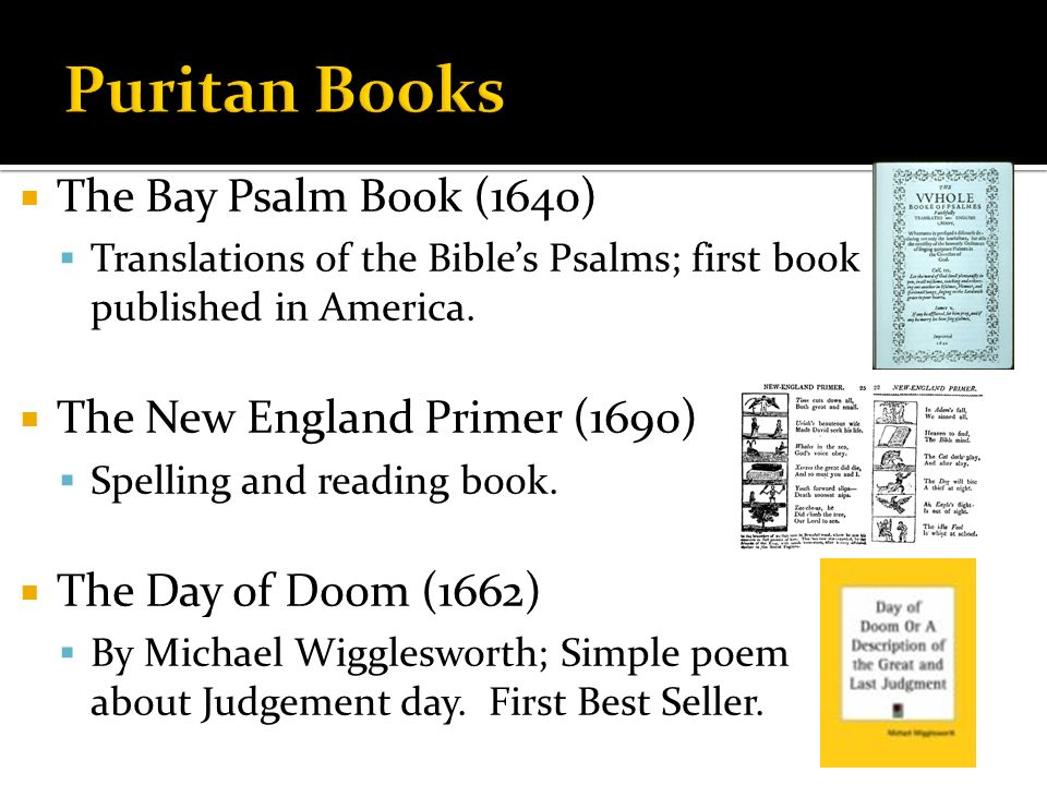 Colonial Literature The Puritan Era 1600 To 1700 Ppt