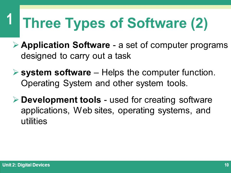 two types of computer software What is a computer simulator  software is the set of programs,but the set of program is used only in application software, software is of two types: 1.