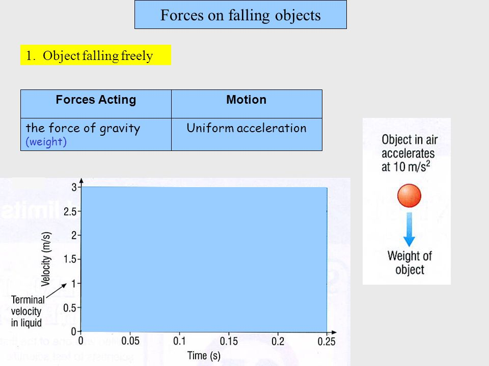 Forces on falling objects