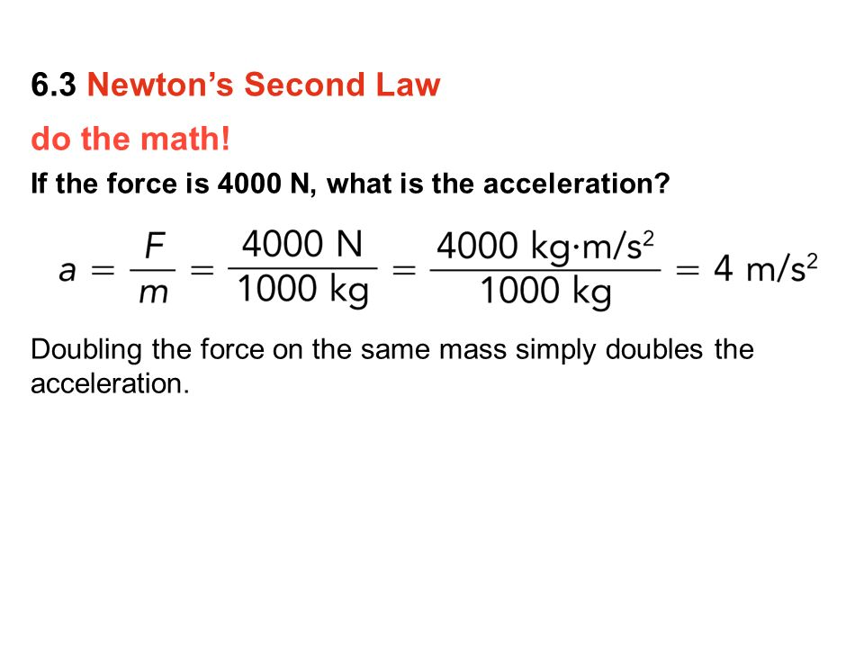 exercises on application of newton 2nd Net force calculation using a kinematics equation second newton's law application.