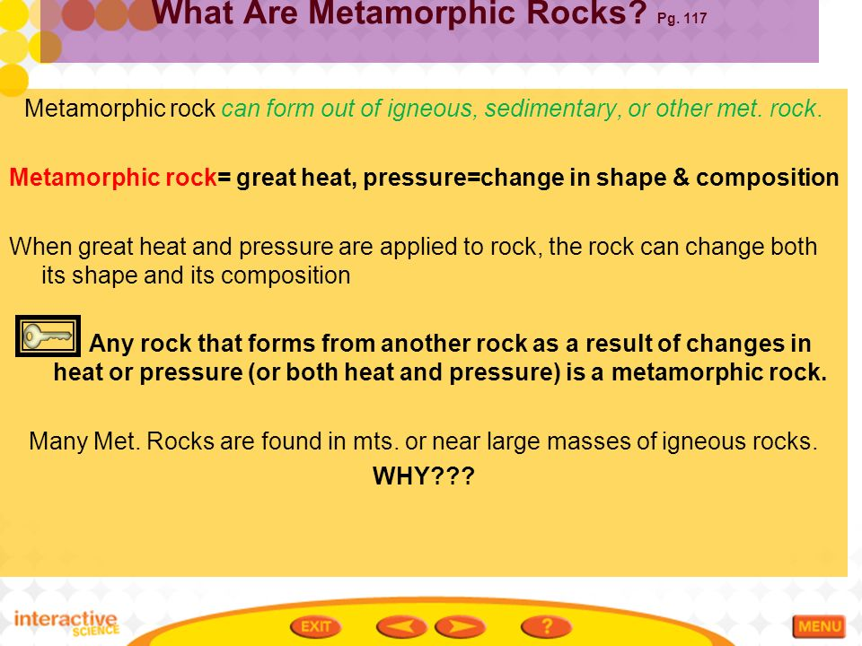 Earth's Structure and Materials Igneous & Metamorphic Rocks - ppt ...