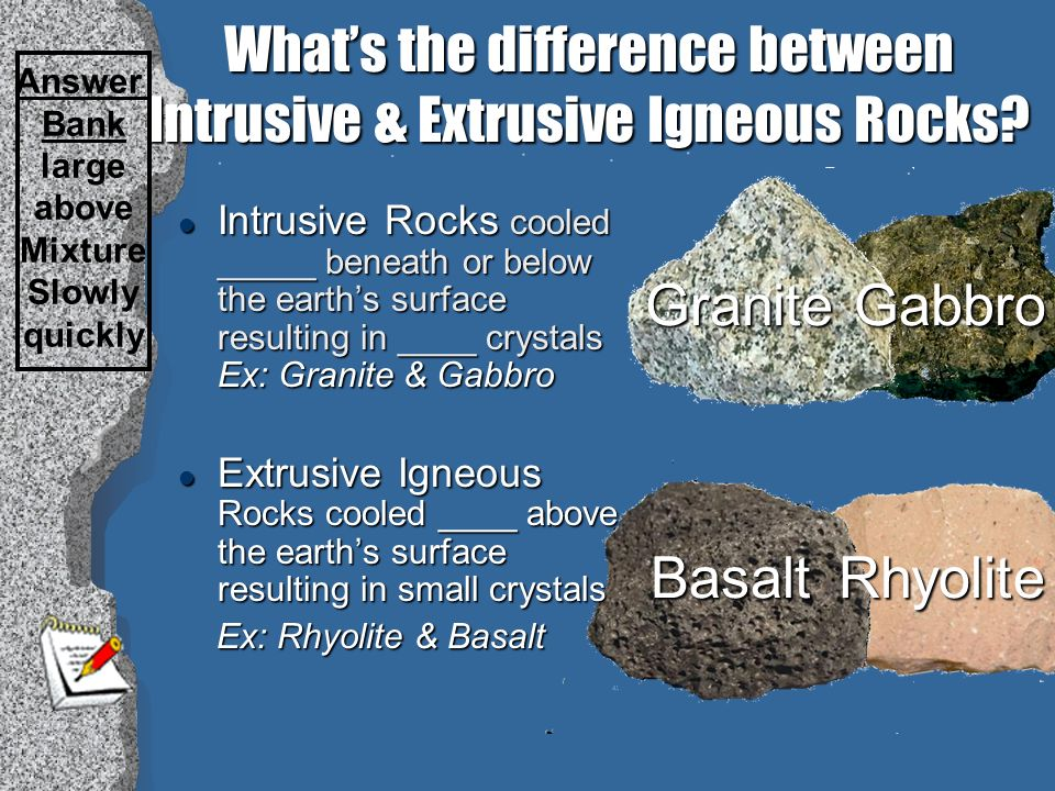 Difference Between Basalt And Granite : Rocks ppt video online download