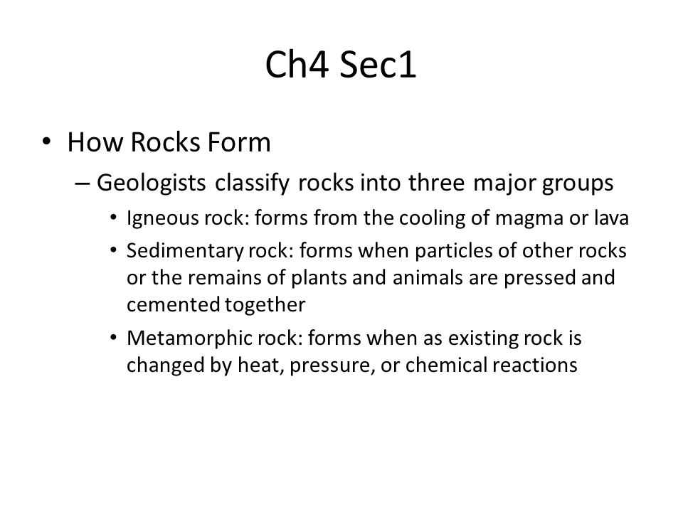 Ch4 Sec1 Classifying Rocks. - ppt download