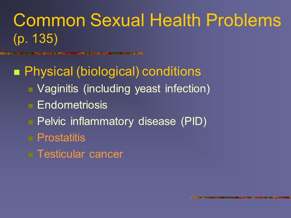 Common Sexual Health Problems (p. 135)