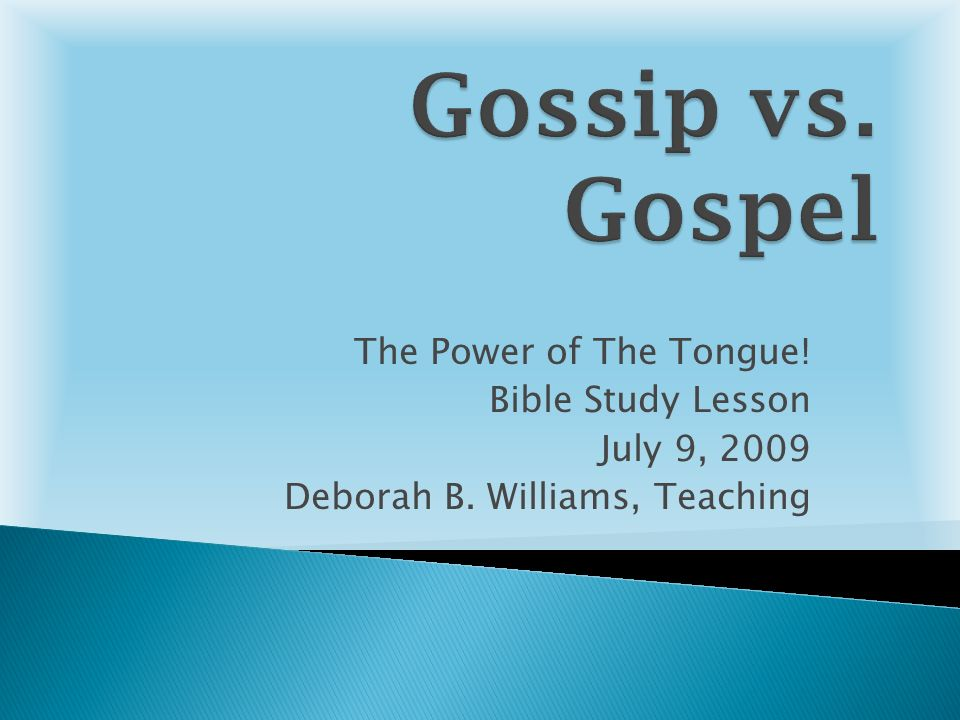 The Power of the Tongue - Short Bible Study Lessons