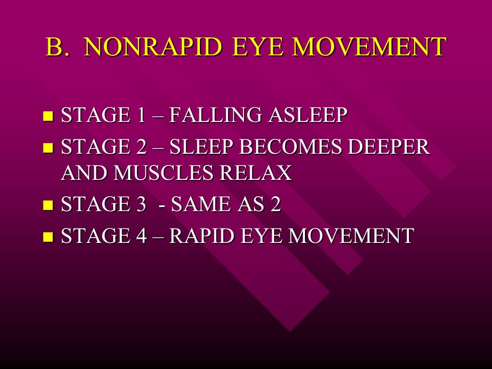 sleep disorders rapid eye movement essay Rapid eye movement (rem) is the stage of sleep characterized by rapid saccadic movements of the eyes sleep disorder.