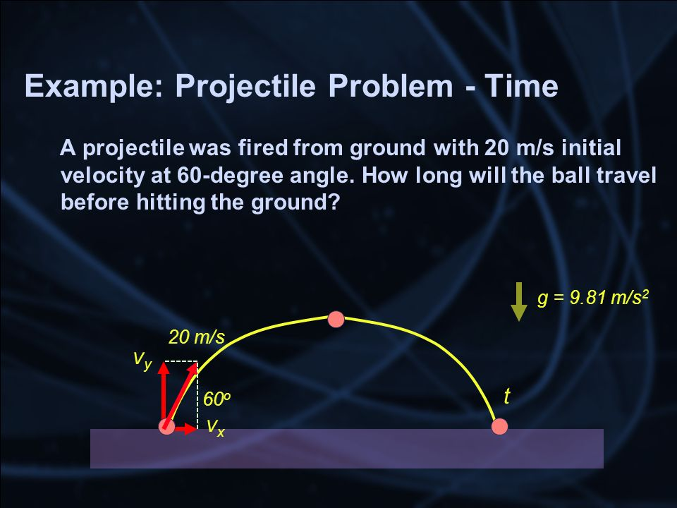 Example: Projectile Problem - Time