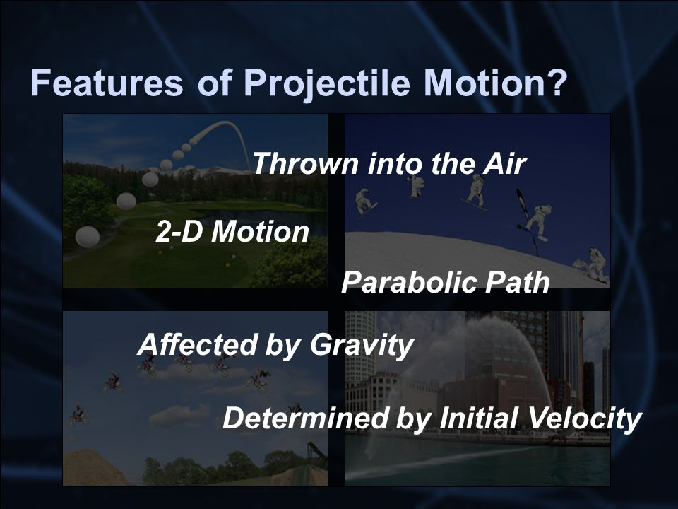 Features of Projectile Motion