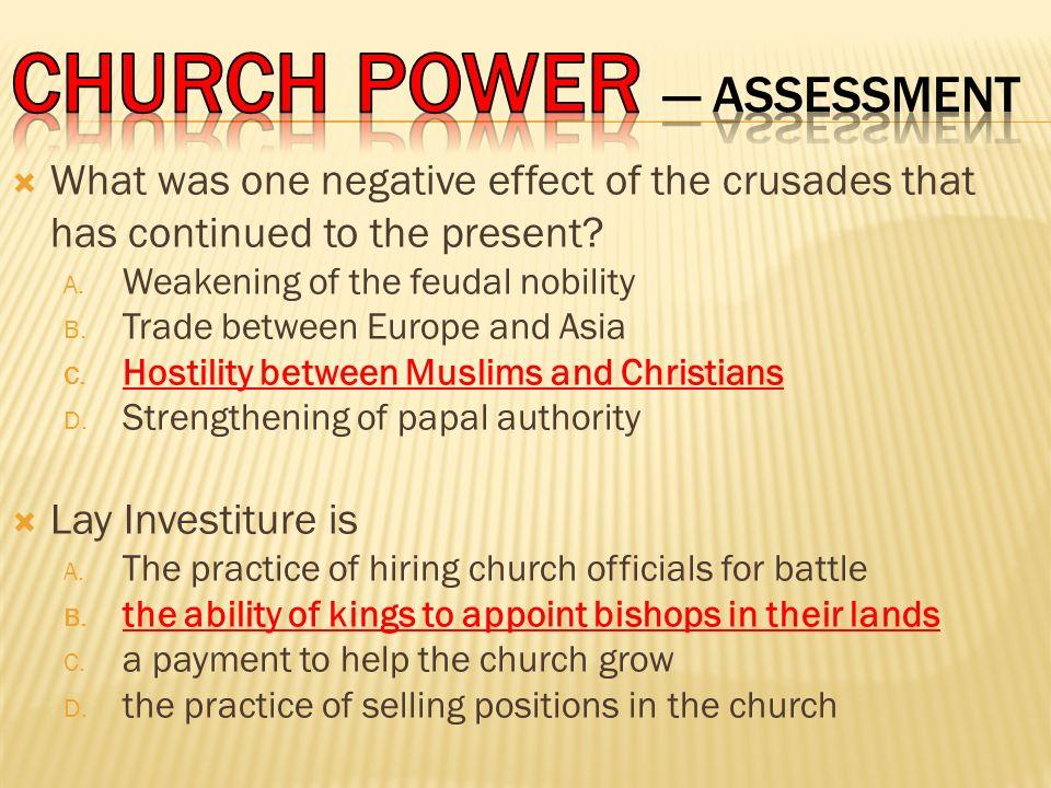 CHURCH POWER — Assessment
