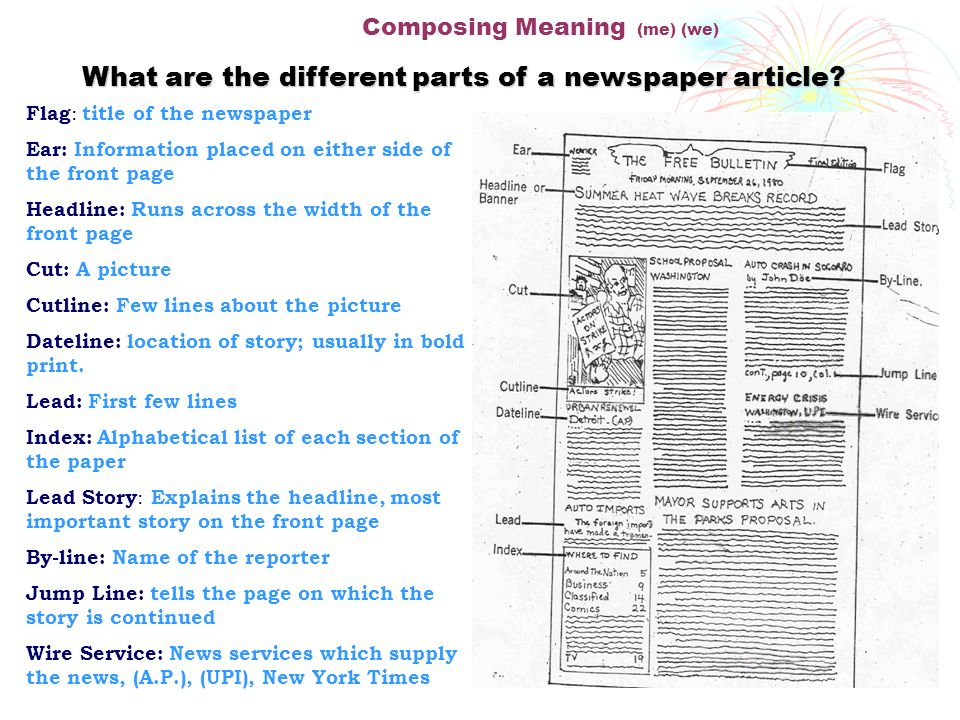 Newspaper Vocabulary