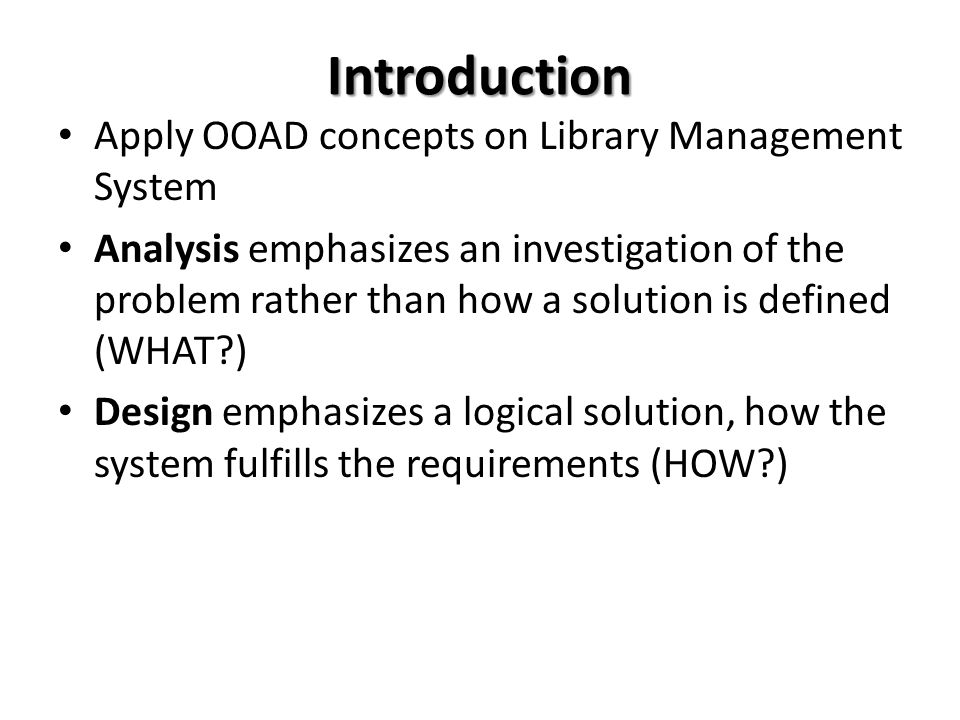 case understand in library administration system ppt