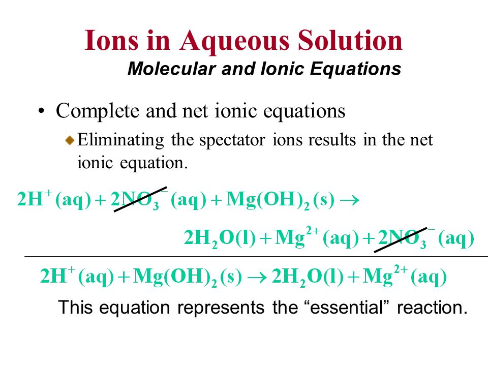 reactions in aqueous solutions metathesis reactions and net ionic equations Net ionic equations lab a net ionic equation is an equation that only includes the parts then they could be identified using the types of metathesis reactions.