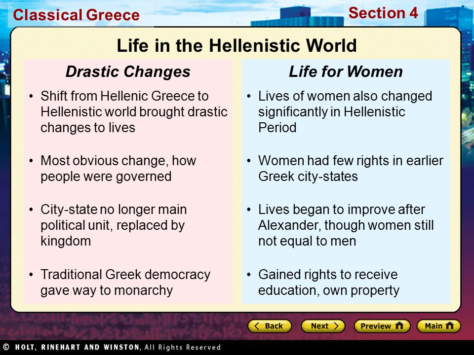an analysis of the women in the hellenistic world The paperback of the the hellenistic world:  women's magazines men's  coinage is one of our key sources for the rich and fascinating history of the hellenistic.