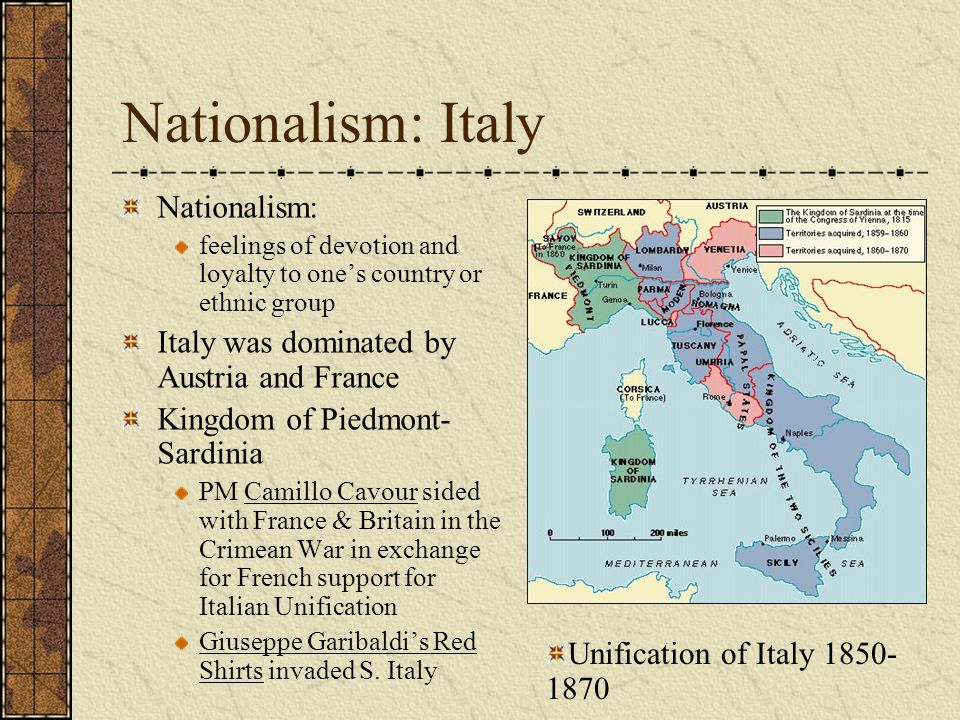 essay about nationalism in italy The tools you need to write a quality essay essays related to 19th century europe - empire and nationalism it pushed people toward national unity in italy.