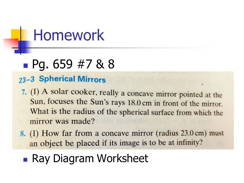 Ray Diagrams Basics Mirror Equations ppt video online download – Ray Diagram Worksheet