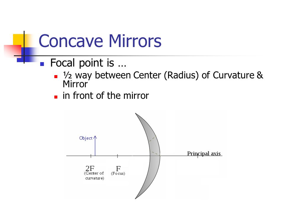 how to find focal point of concave mirror