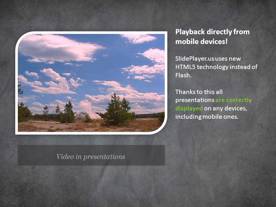 Video in presentations