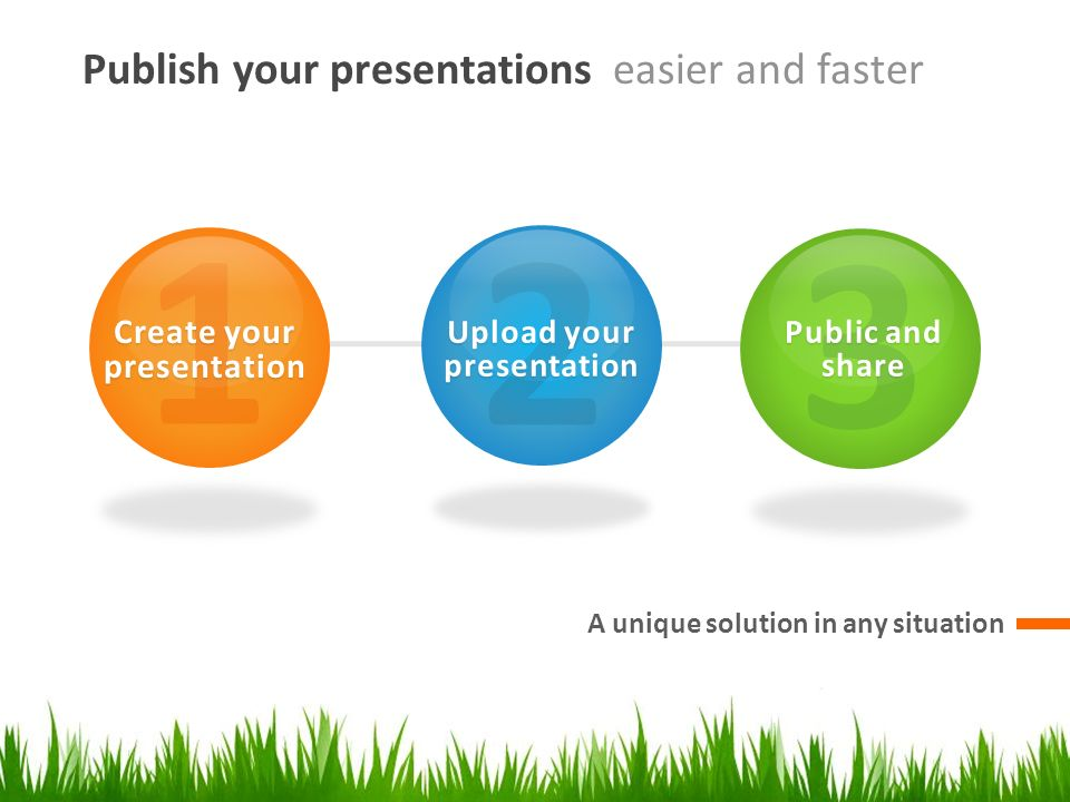 Create your presentation Upload your presentation
