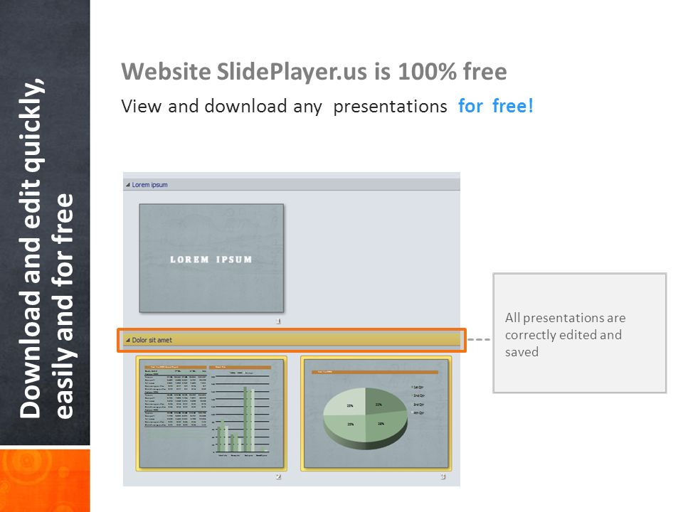 Download and edit quickly, easily and for free
