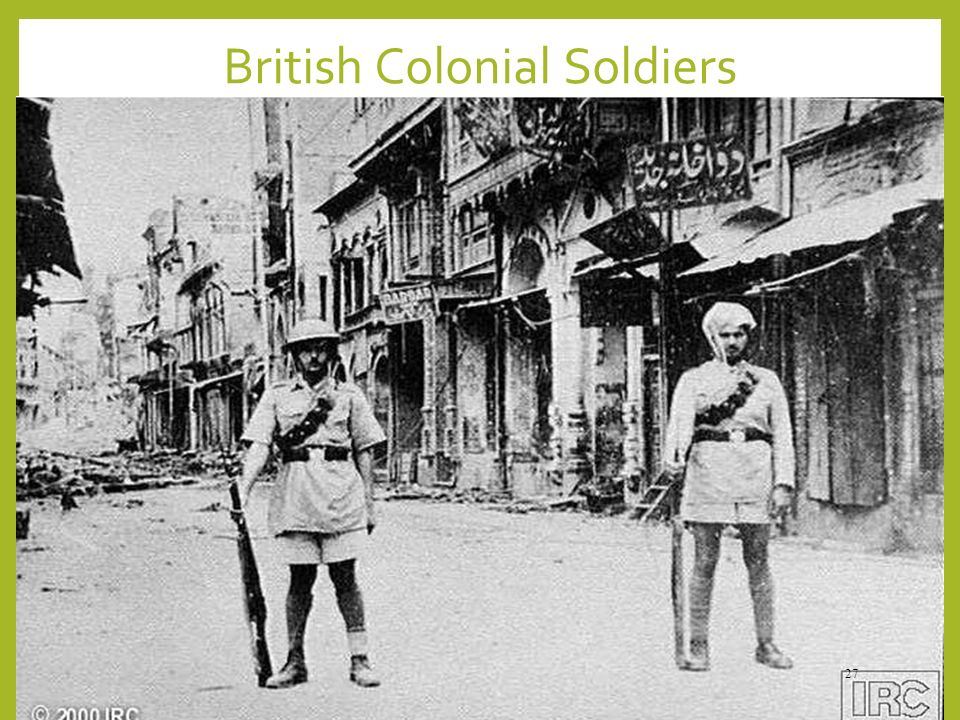 British Colonial Soldiers