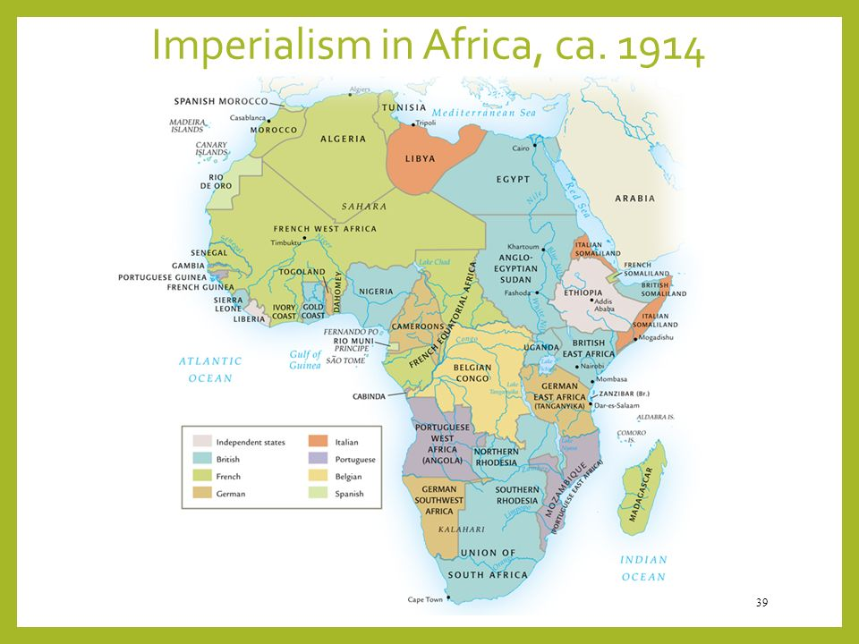 Imperialism in Africa, ca. 1914