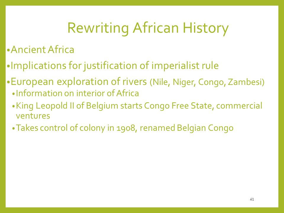 Rewriting African History