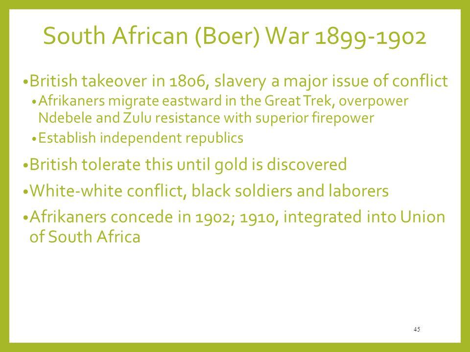 South African (Boer) War 1899-1902