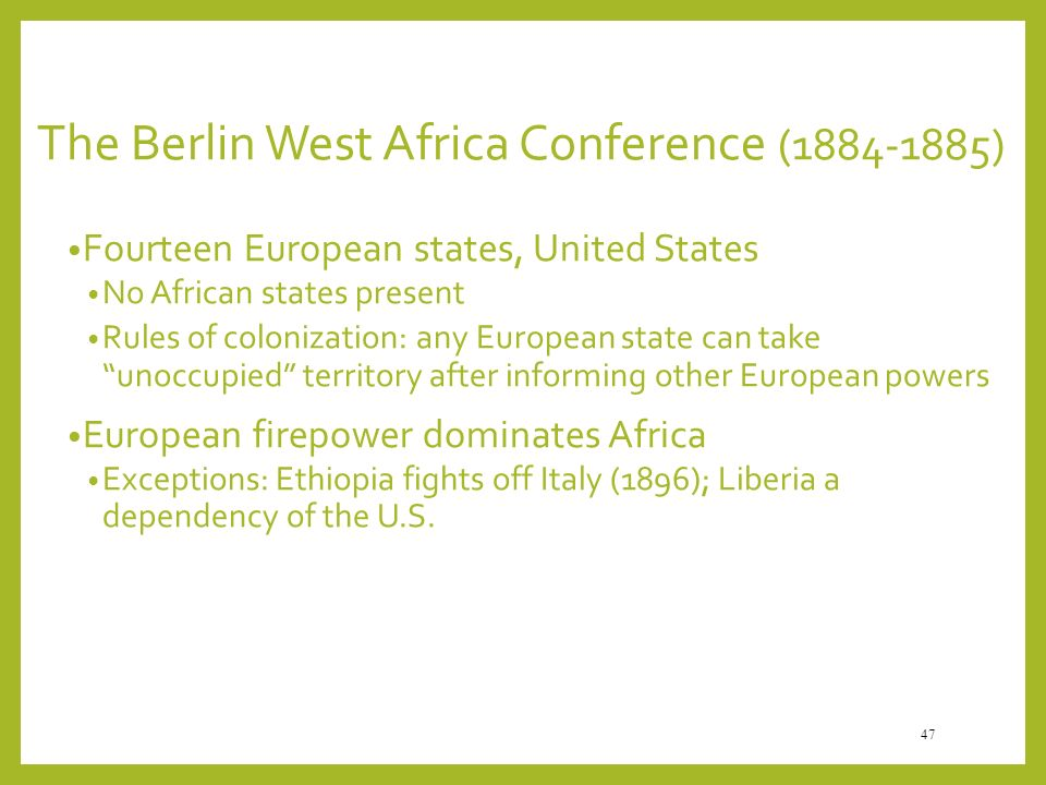 The Berlin West Africa Conference ( )