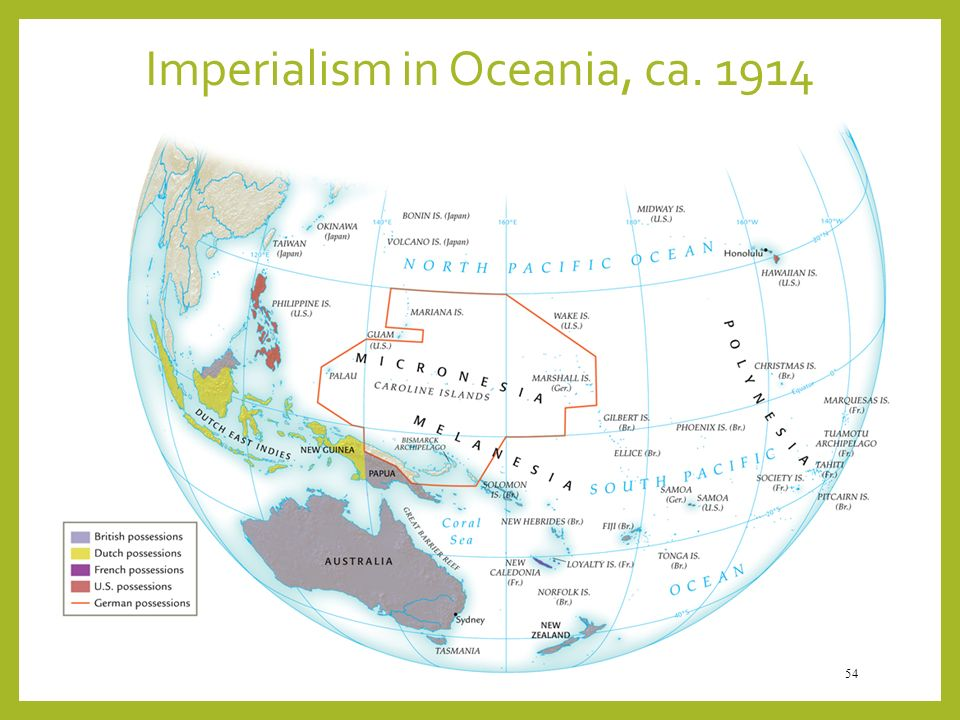 Imperialism in Oceania, ca. 1914