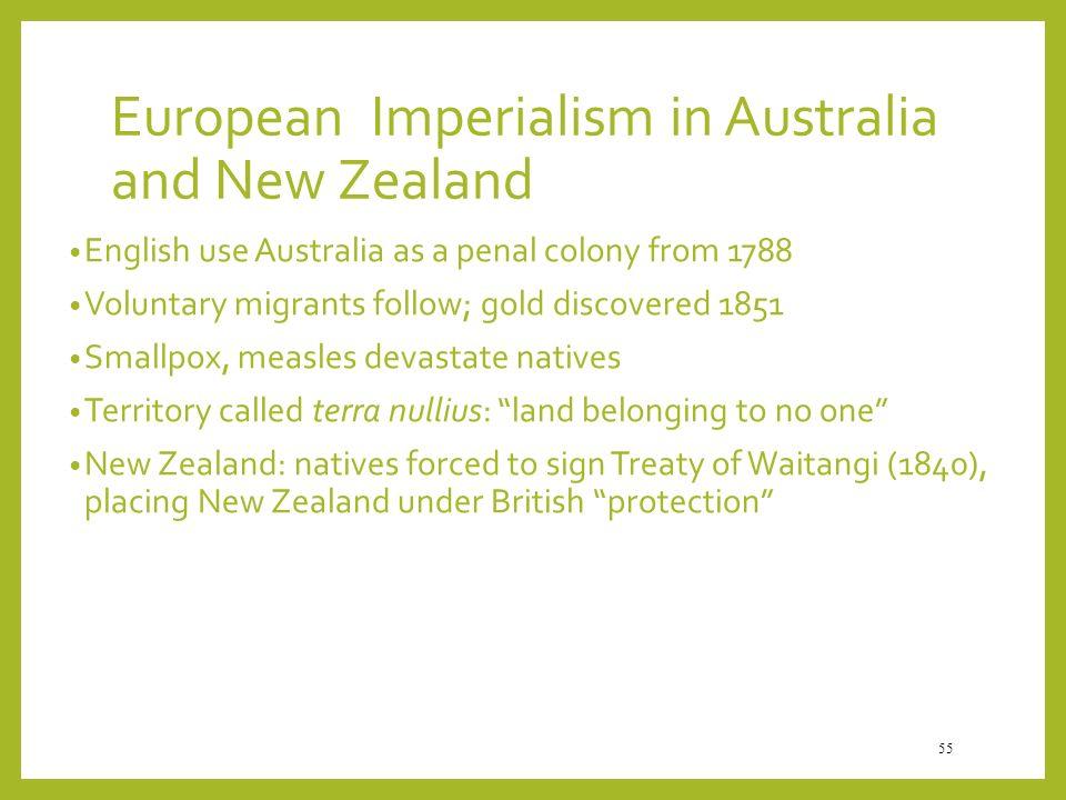 European Imperialism in Australia and New Zealand
