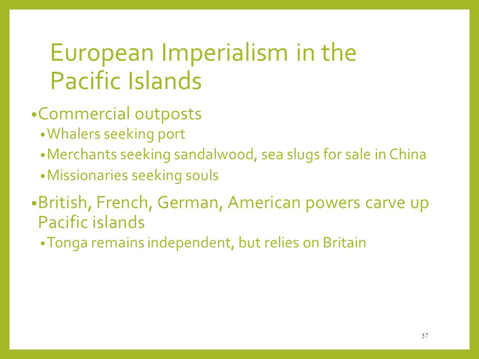 European Imperialism in the Pacific Islands